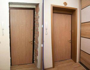 Установка откосов на входную дверь