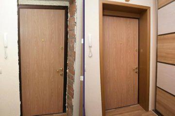 Отделка и установка откосов на дверь